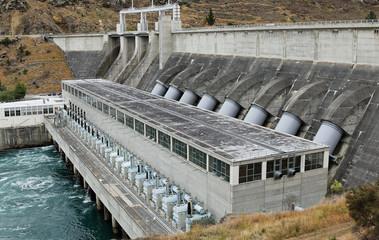 Wasserkraftwerk in Neuseeland