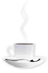 the vector image of the cup of coffee