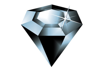 the vector image of a black diamond