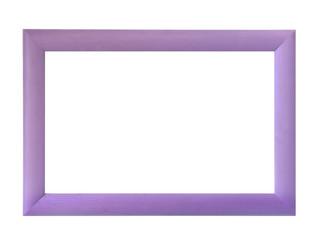 Decorative wood frame isolated over white