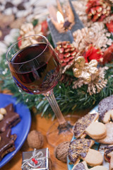 Christmas cookies with wine