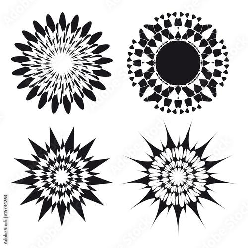 Spirograph Ornament Tattoo Design Elements Stockfotos Und