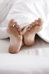 Bright Closeup of woman´s feet