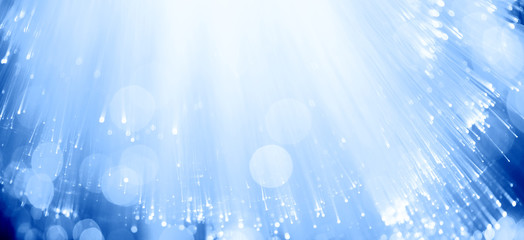 Blue fiber optics