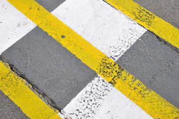 Formel 1 - Fahrbahn-Markierungen am Start / Ziel