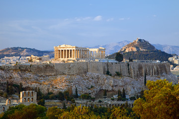 Recess Fitting Athens View on Acropolis at sunset, Athens, Greece