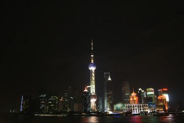 Shanghai / China - Pudong Skyline at night