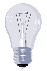 vector image of the incandescent lamp