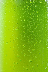 Close up shot of green ice cold drink