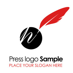 Press logo template
