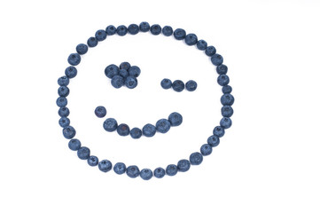 Blueberry smiley face