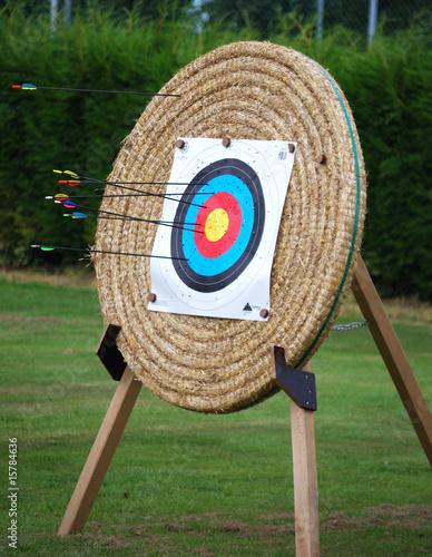 Cible en paille pour tir l 39 arc avec fleches photo libre de droits sur la banque d 39 images - Acheter de la paille pour jardin ...