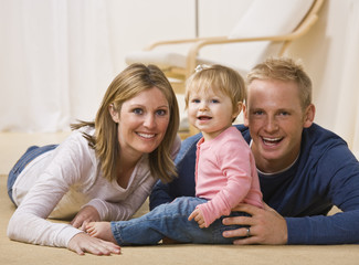 Young Family Smiling