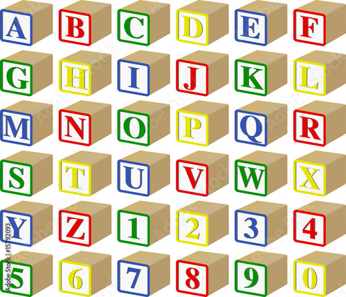 Free Font Wooden Block Letters