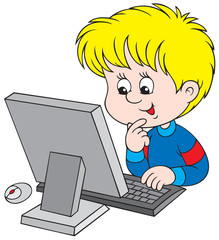 Boy with computer