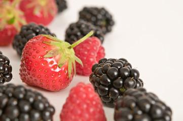 Erdbeeren, Himbeeren und Brombeeren
