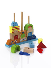 Incomplete childs wooden toy