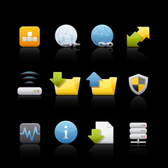Icon Set in Black - Web and Internet