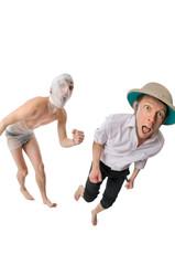 Mummy chasing archeologist