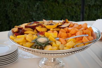 Enticing flat of fruit