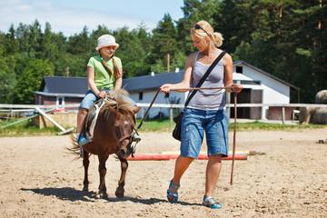 Little riding pony
