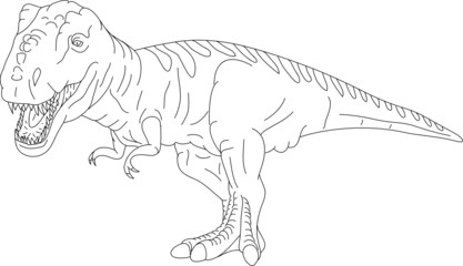 vector - contour T Rex isolated on background