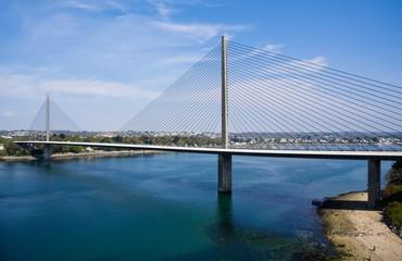 In de dag Brug Le pont de l'Iroise (Brest, Bretagne)
