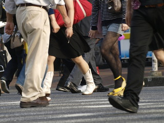 Paso de peatones en Tokio