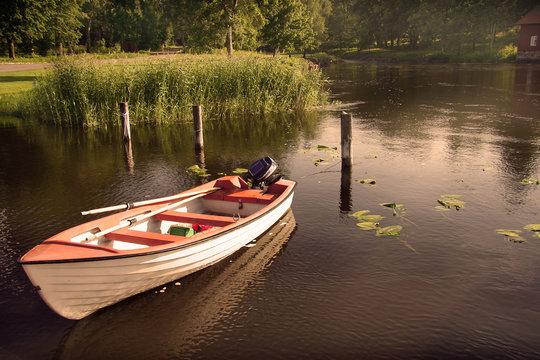 Ruderboot auf Vänernsee