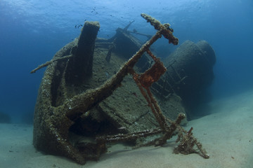 Photo Blinds Shipwreck A wreck of a ship lying on the seabed