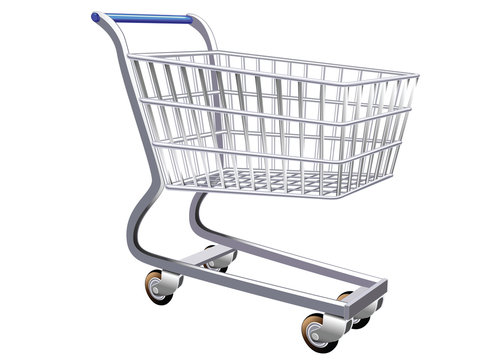 illustration of a stylized shopping cart