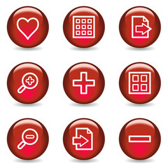 Image viewer web icons, red glossy series