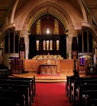 indoor setting, church interior