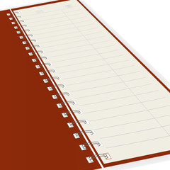 Pure notebook. Vector illustration