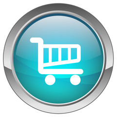 Orb button with Cart symbol (blue)