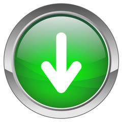 Orb button with Download symbol (green)