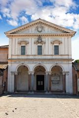 Eingang zu den Sebastian-Katakomben in Rom