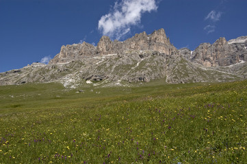 Dolomites in the summer