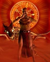 Papiers peints Dragons The Sorcerer - Meditation