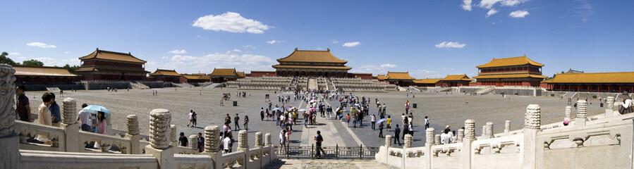 Foto auf Leinwand Beijing Forbidden City, Beijing, Panorama