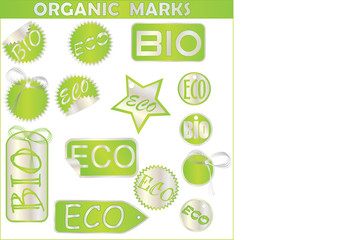 Big Set of green environmental icons
