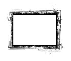 Computer designed grunge borde