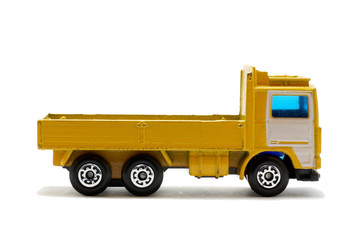 isolated  toy truck.