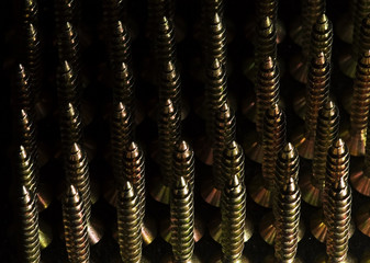 a lot of long  bolts