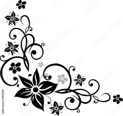 blumen ranke floral ornamental schwarz stockfotos und lizenzfreie vektoren auf. Black Bedroom Furniture Sets. Home Design Ideas