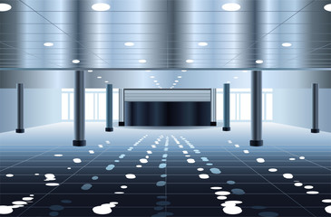 big subway hall interior vector