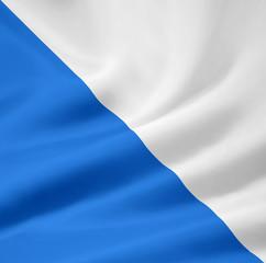 Flagge des Kantons Zürich - Schweiz