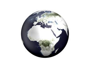 Weltkugel - Europa, Afrika