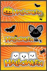 Vector Halloween Banners