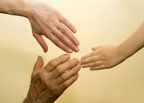 Stock Photo: hands of generation